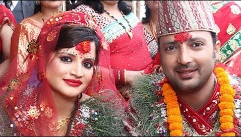Aryan Sigdel and Wife